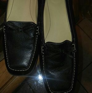 Loafers, Black Leather Easy Spirit